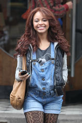 Alexis Jordan ~ Leaving BBC Maida Vale Studios in London - Feb. 21, 2011 (6HQ)