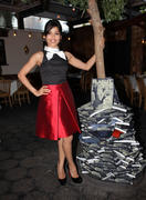 "Freida Pinto - Flaunt Magazine and Agave Denim ""All Wrapped Up In Blue"" Dinner Party on July 17, 2012 - x5 HQ"