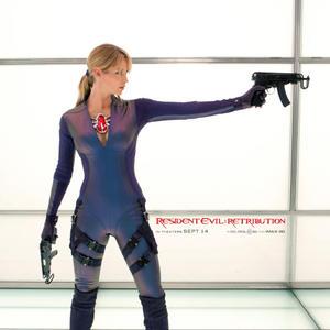 Sienna Guillory: Resident Evil Retribution promo's(bodysuit) 2 HQ(ish)