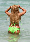 Aubrey O'Day - wearing a bikini at a Miami beach 07/08/12