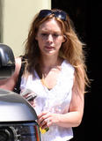 Hilary Duff - At a bank in LA, August 24, 2010